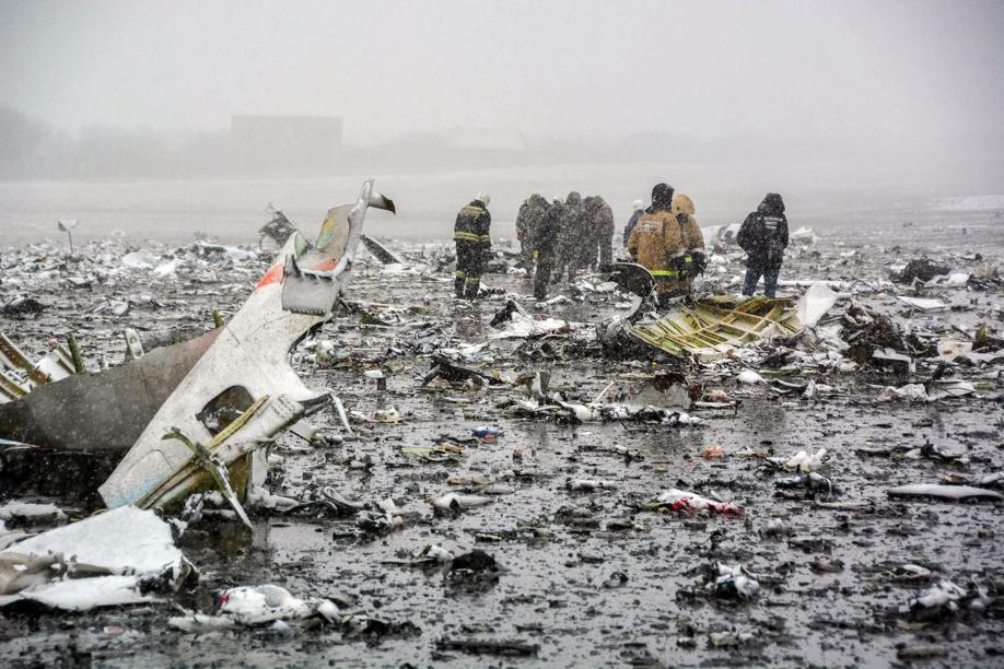 Plane crashed in Russia at time of heavy winds