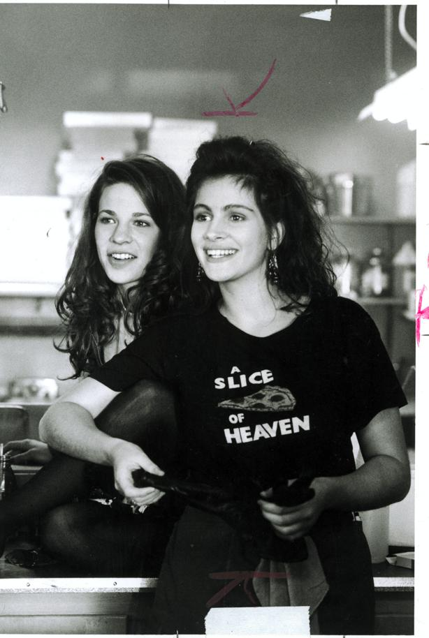 "bf38b8d3afc82b Lili Taylor and Julia Roberts in the 1988 film ""Mystic Pizza."