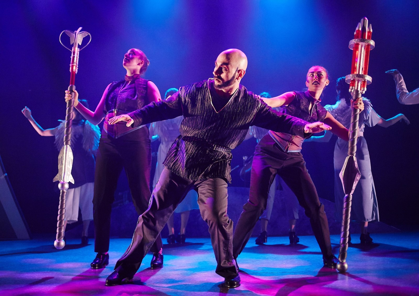 Tap opera juggles big themes, daffy plot, Bowie, lasers - West