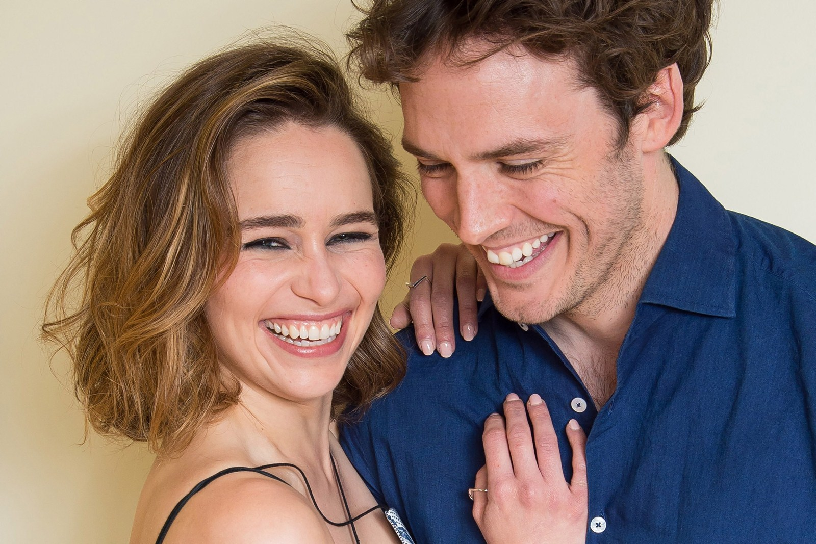 "7fd8c7c0141e0e Emilia Clarke, with ""Me Before You"" co-star Sam Claflin, says she  identified with her small-town character's innocence. ( Charles  Sykes/Invision)"