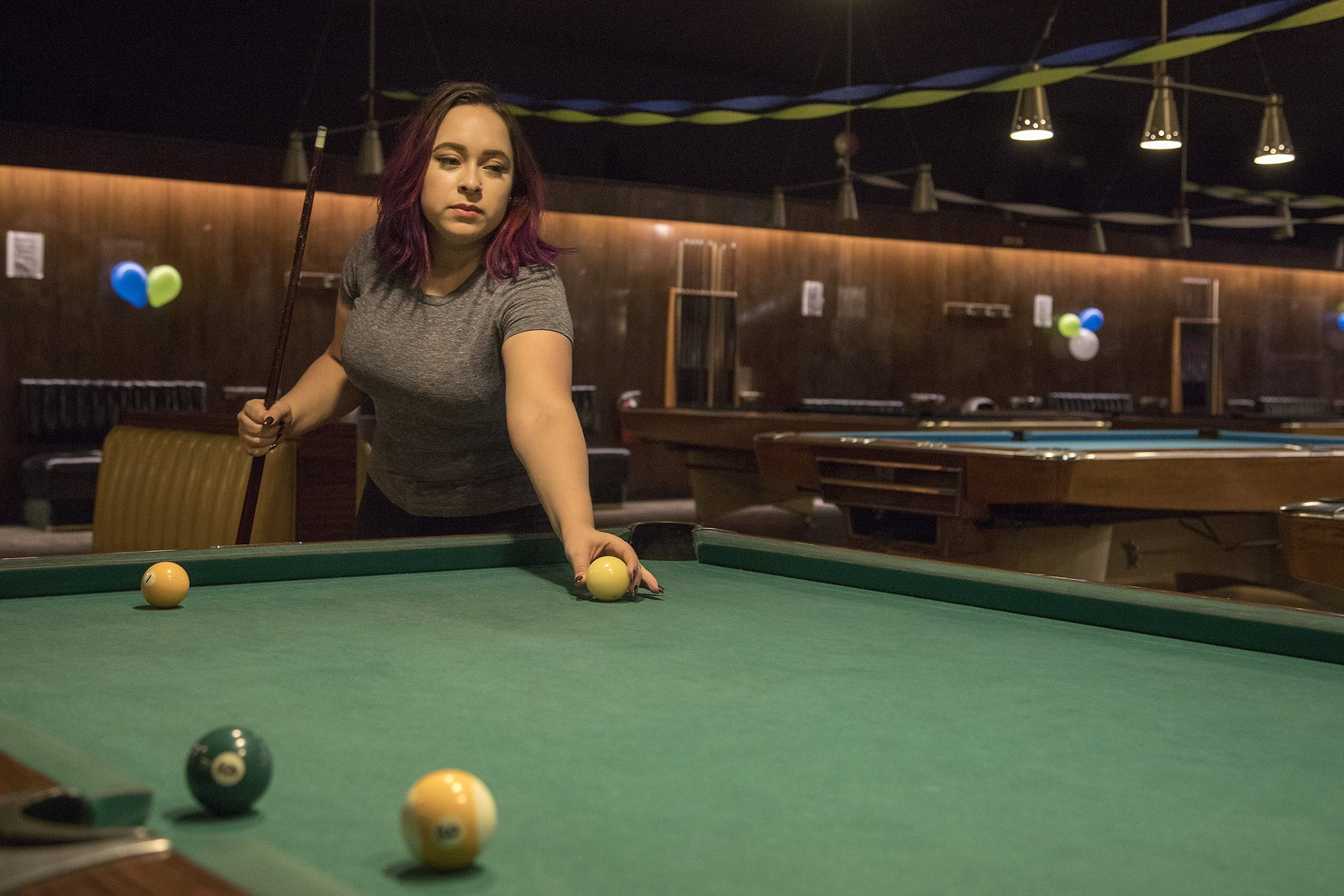 Table Run Comes To End At Oldschool Billiard Hall City - Old school pool table