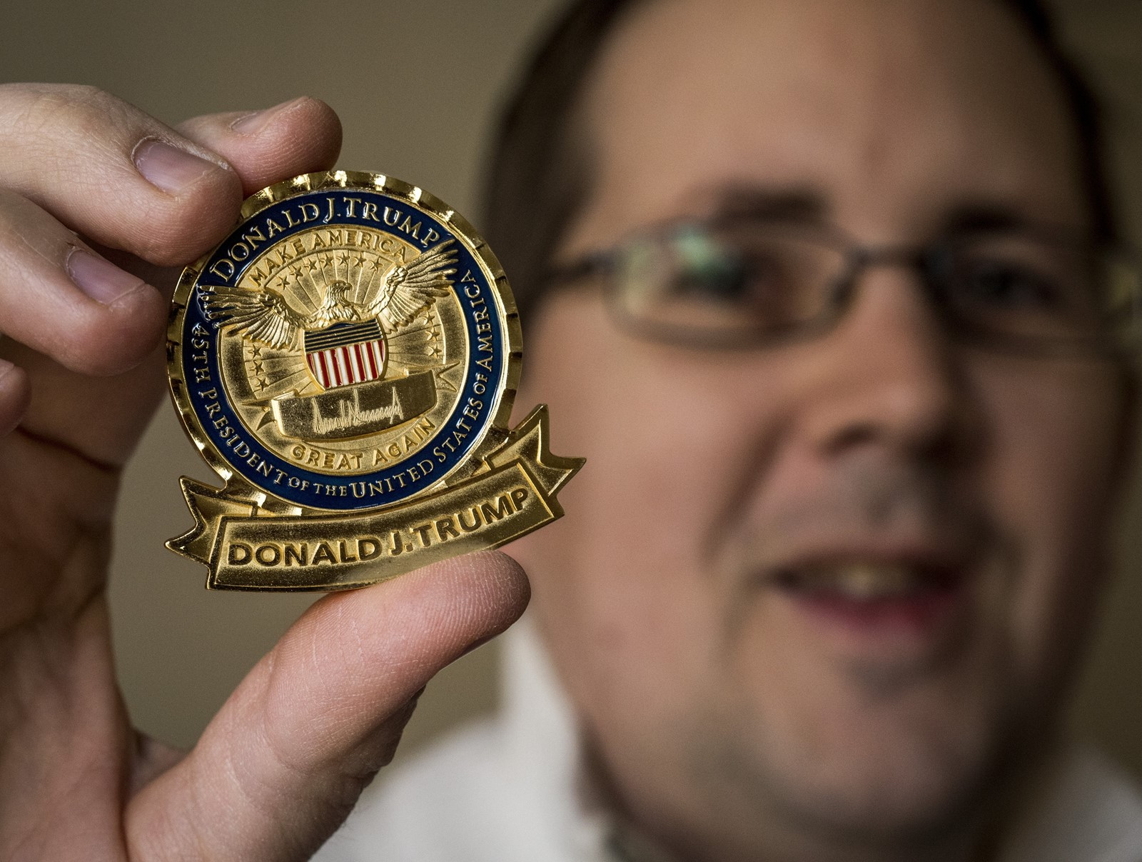 Trump's presidential coin breaks the mold - West
