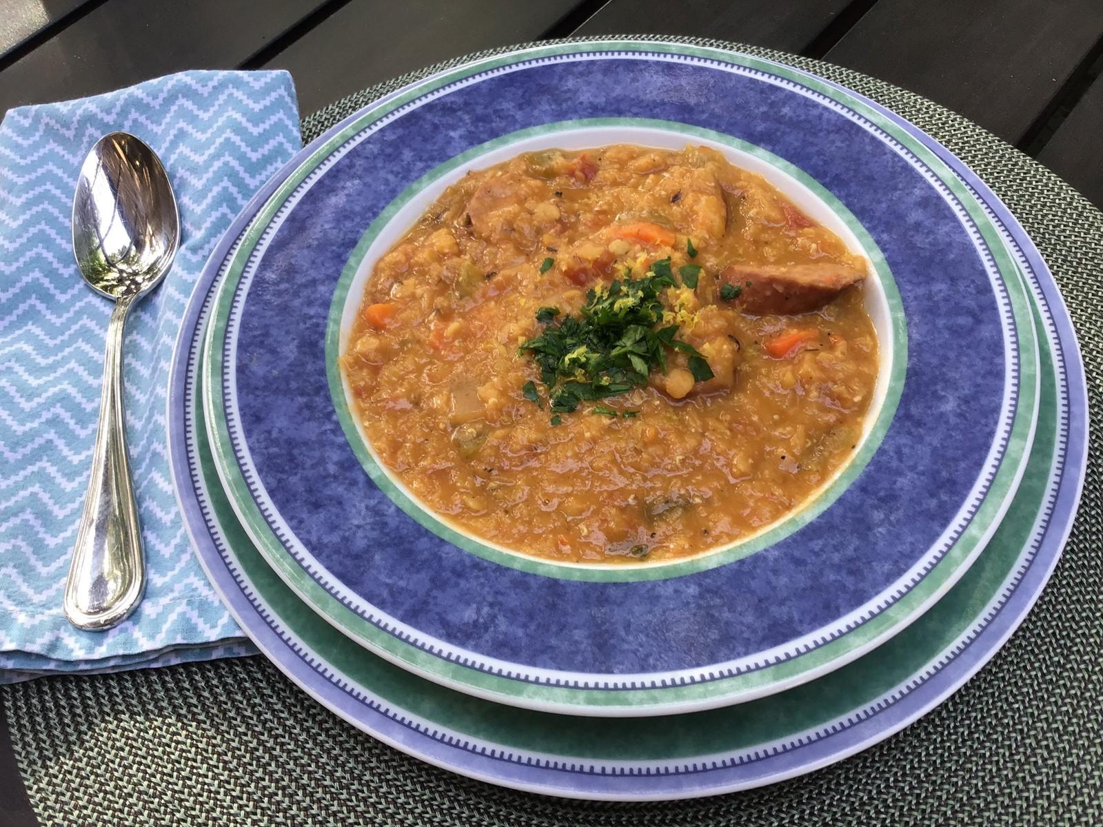 Gremolata Brightens A Basic Lentil Soup South Southwest