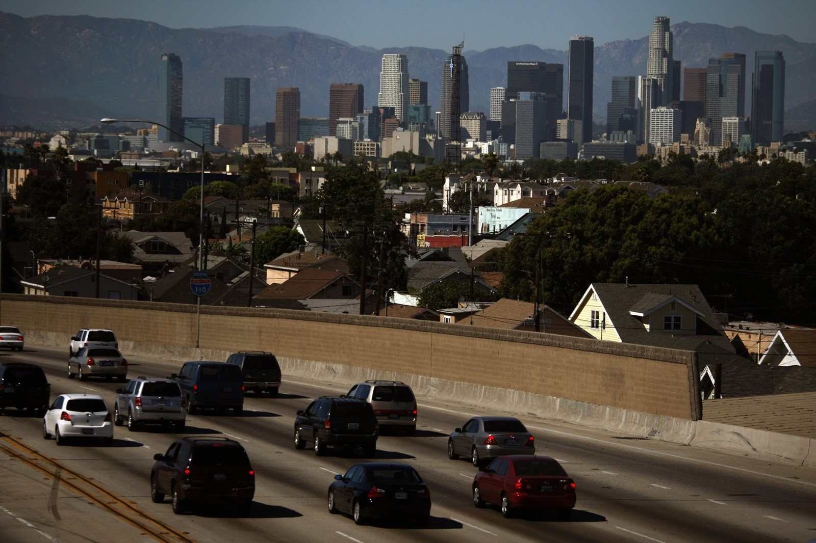 Emissions from transportation generate the most greenhouse gases, and would keep rising under the plan. — Photograph: Genaro Molina/Los Angeles Times.