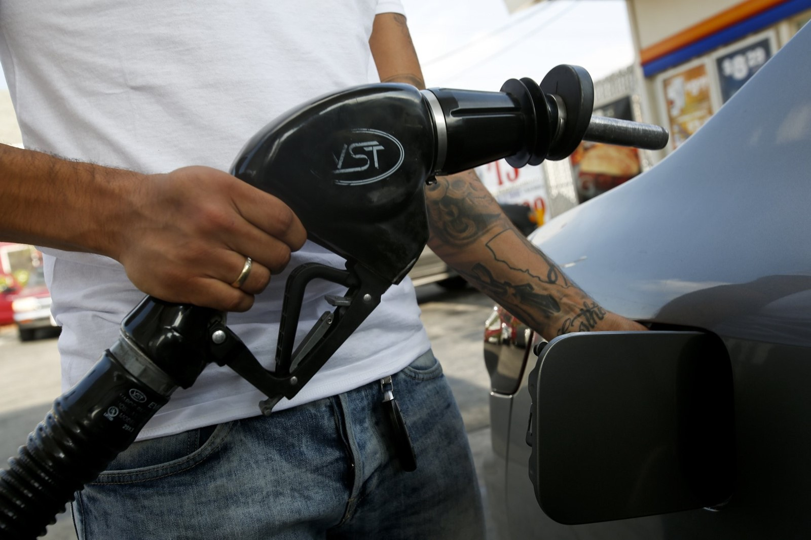 The severity of the plan's effects would depend on oil prices, which influence which cars people buy. — Photograph: Anne Cusack/Los Angeles Times.