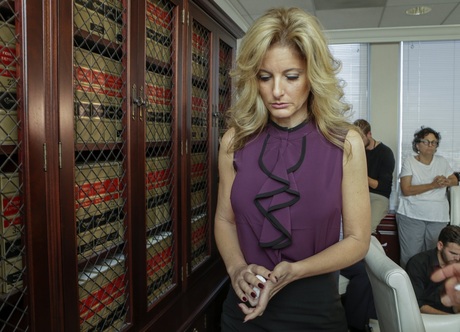Summer Zervos is suing in response to President Trump's denials that he tried to force himself on her. — Photograph: Irfan Khan/Los Angeles Times.