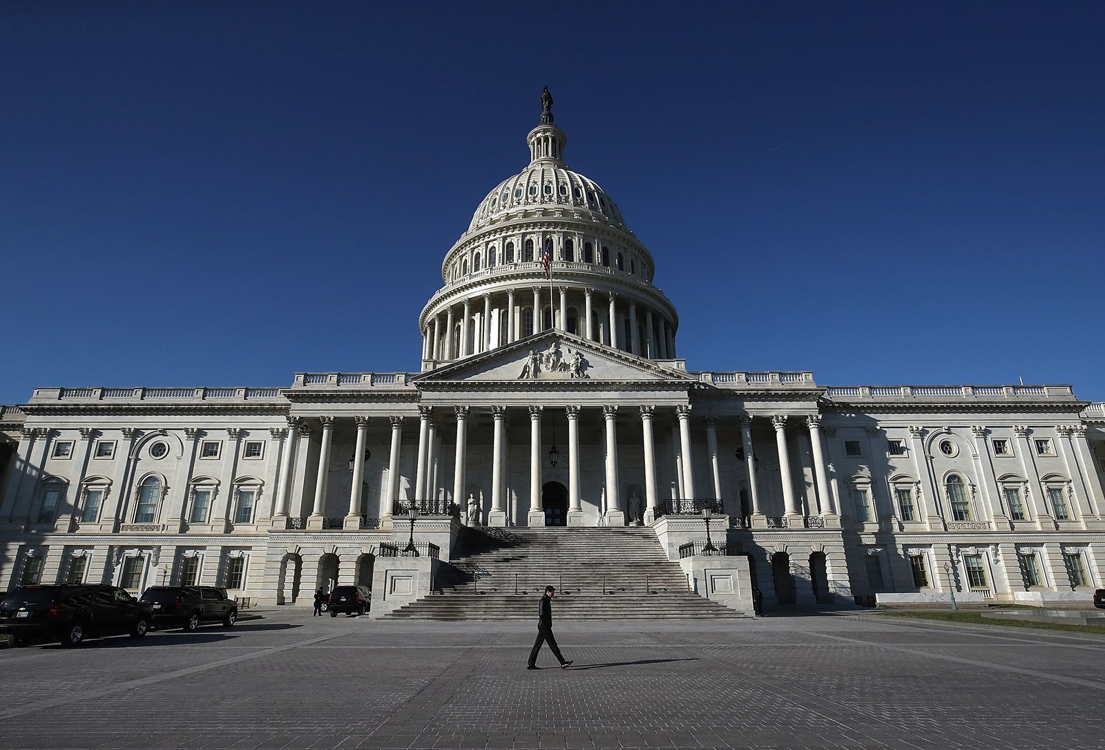 Democrats stand a good chance of winning a majority in the House and possibly the Senate too. History and an unpopular GOP president are in their favor. — Photograph: Mark Wilson/Getty Images.