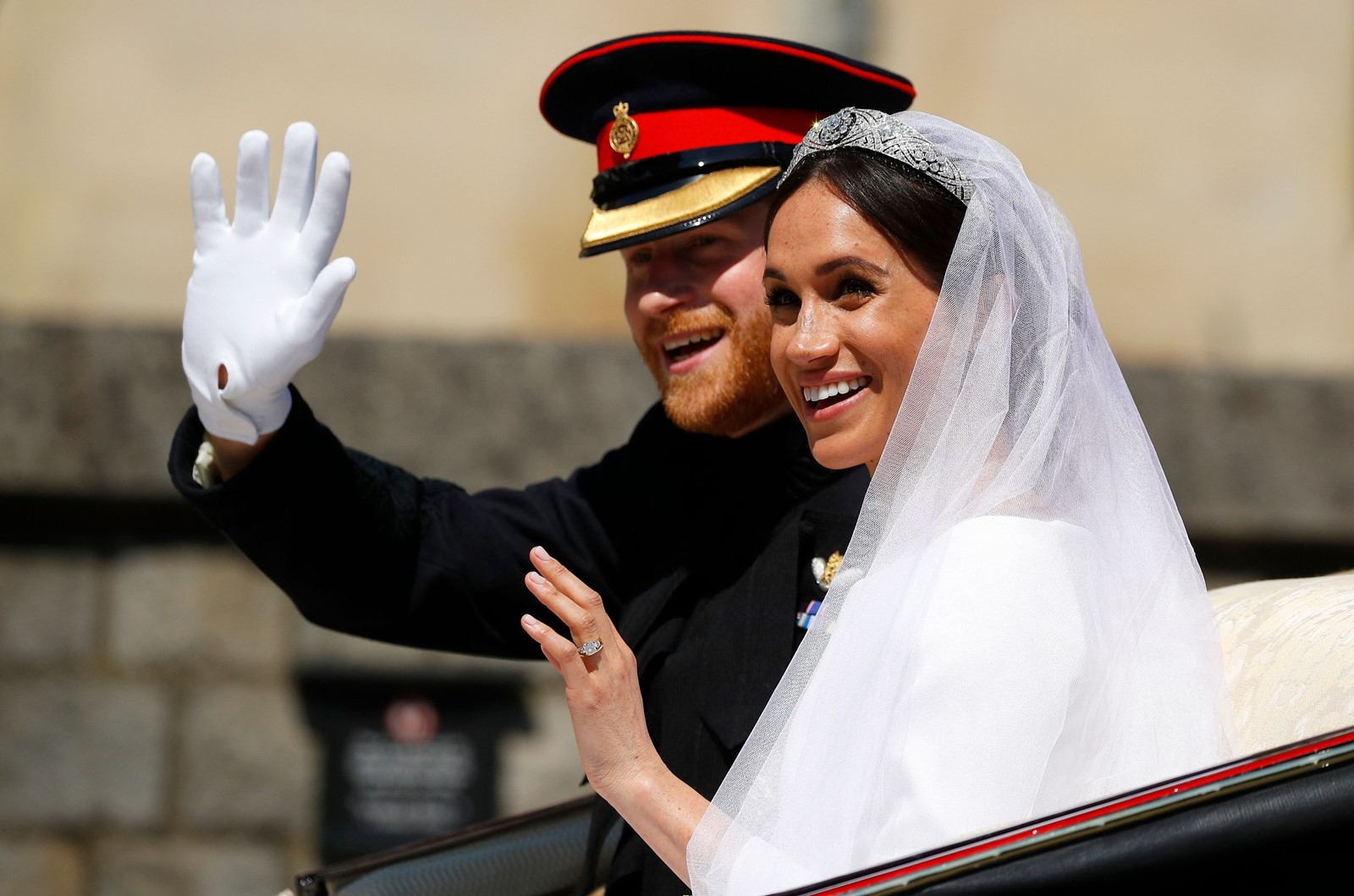 The British royal family did not invite foreign dignitaries to Prince Harry and Meghan Markle's wedding partly to avoid having to invite Trump. — Photograph: Phil Noble/Agence France-Presse/Getty Images.