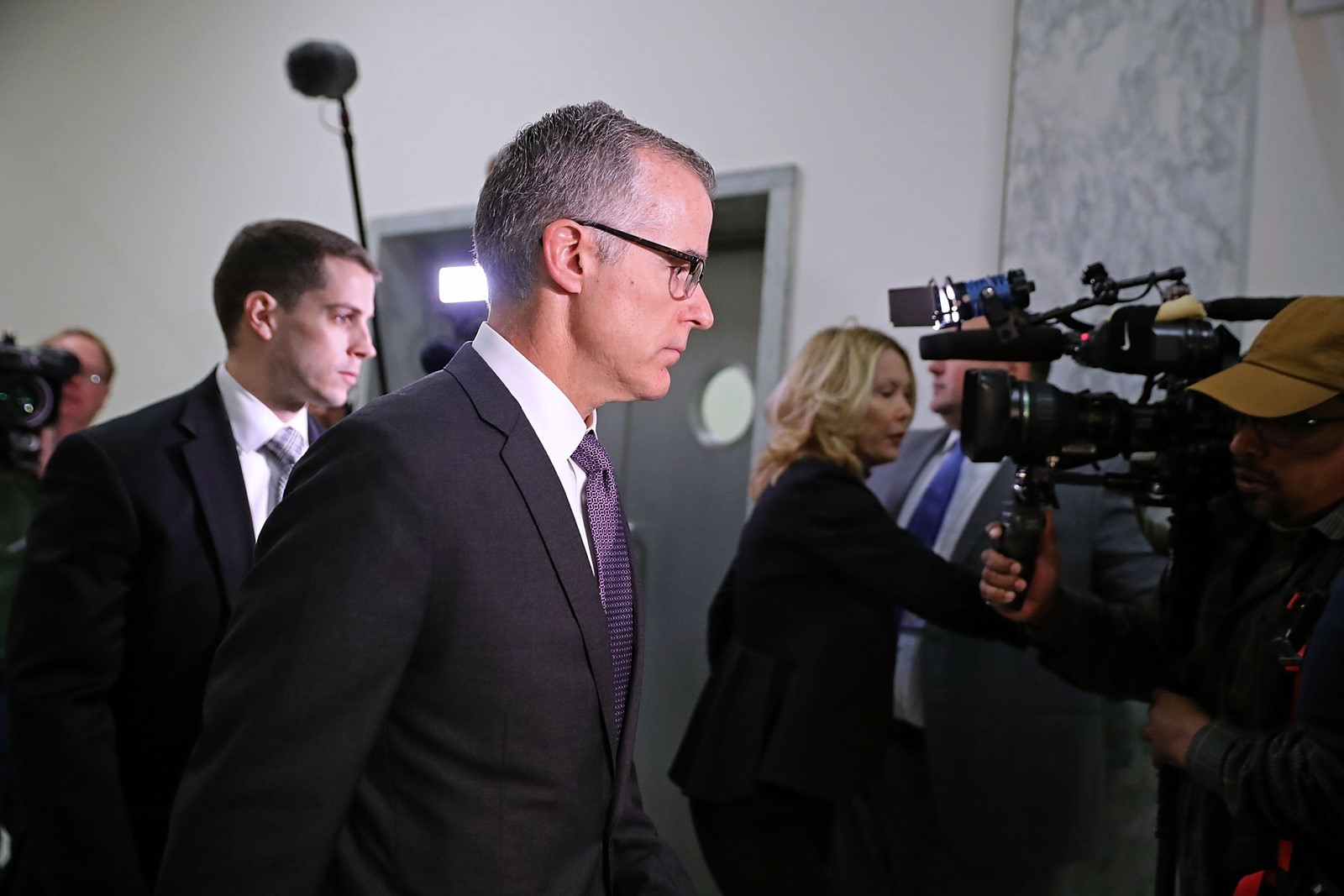The firing of FBI Deputy Director Andrew McCabe could lead opposing political camps to dig in. — Photograph: Chip Somodevilla/Getty Images.