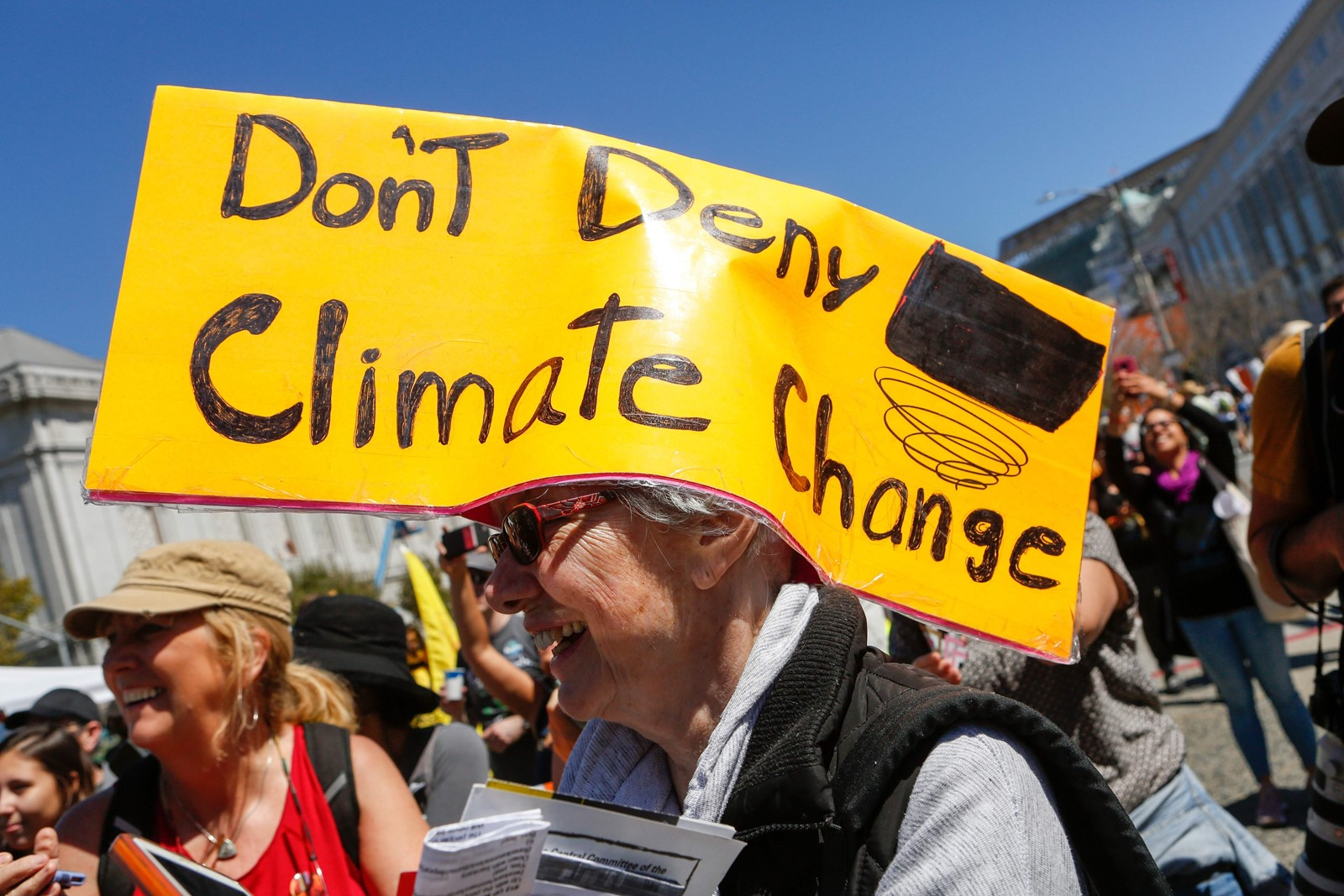 "Marchers in San Francisco last week join ""Rise for Climate,"" a global day of action demanding solutions from local leaders. — Photograph: Amy Osborne/Agence France-Presse/Getty Images."