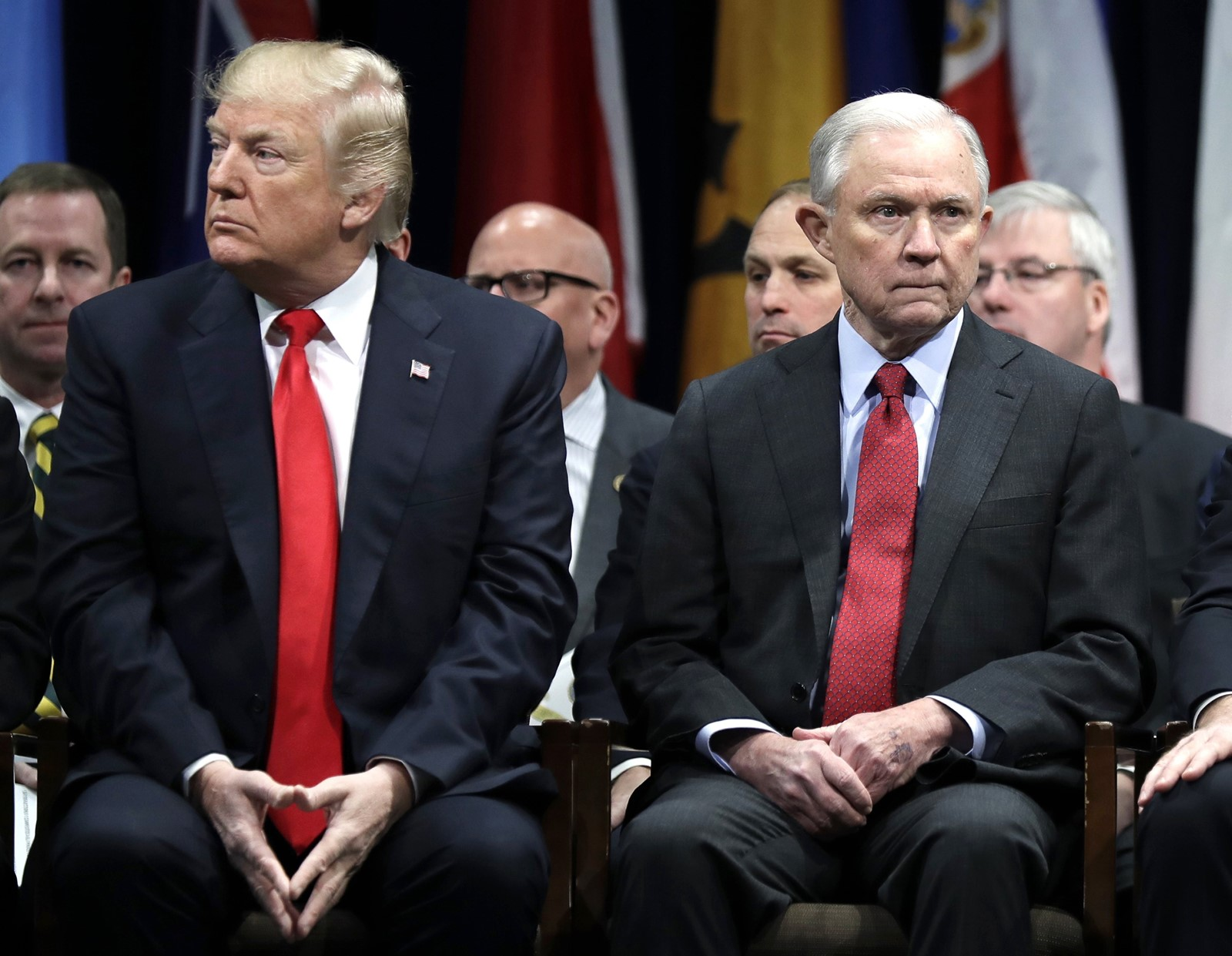 Jeff Sessions was the first sitting senator to endorse Donald J. Trump for president. — Photograph: Evan Vucci/Associated Press.