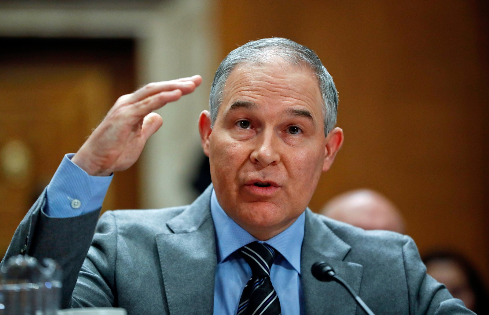 "Scott Pruitt, EPA chief, says one state can't ""dictate standards for the rest of the country"". — Photograph: Pablo Martinez Monsivais/Associated Press."