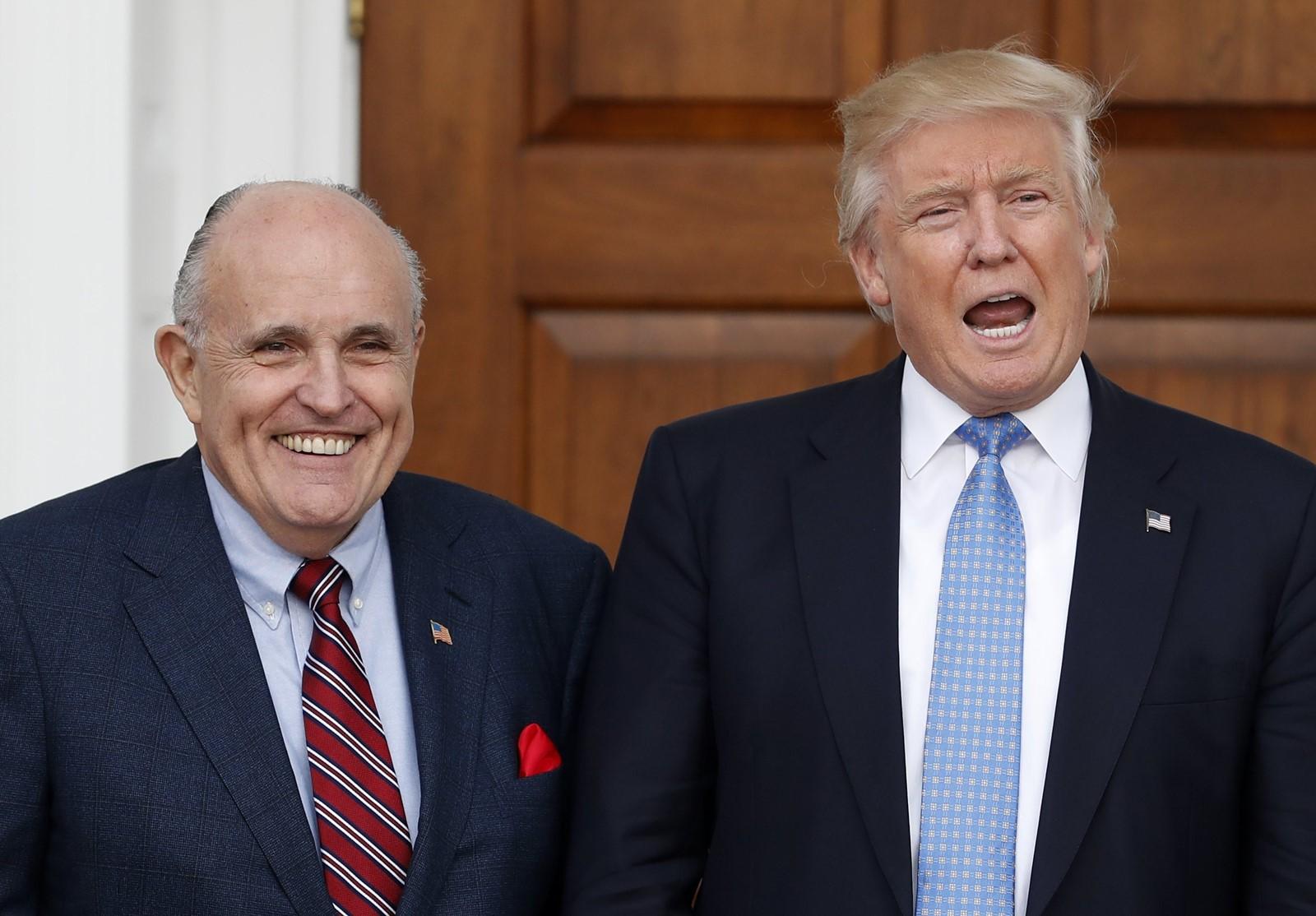President Donald J. Trump and Rudolph W. Giuliani. — Photograph: Carolyn Kaster/Associated Press.