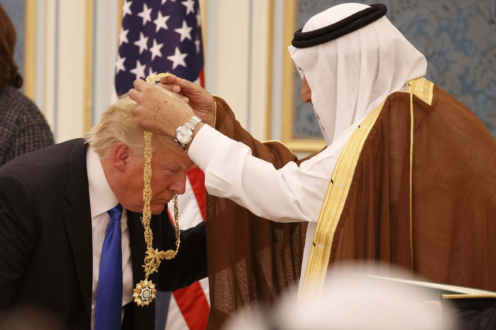 President Trump visits Saudi Arabia in May. Some leaders worry about Trump's unpredictability. — Photograph: Evan Vucci/Associated Press.