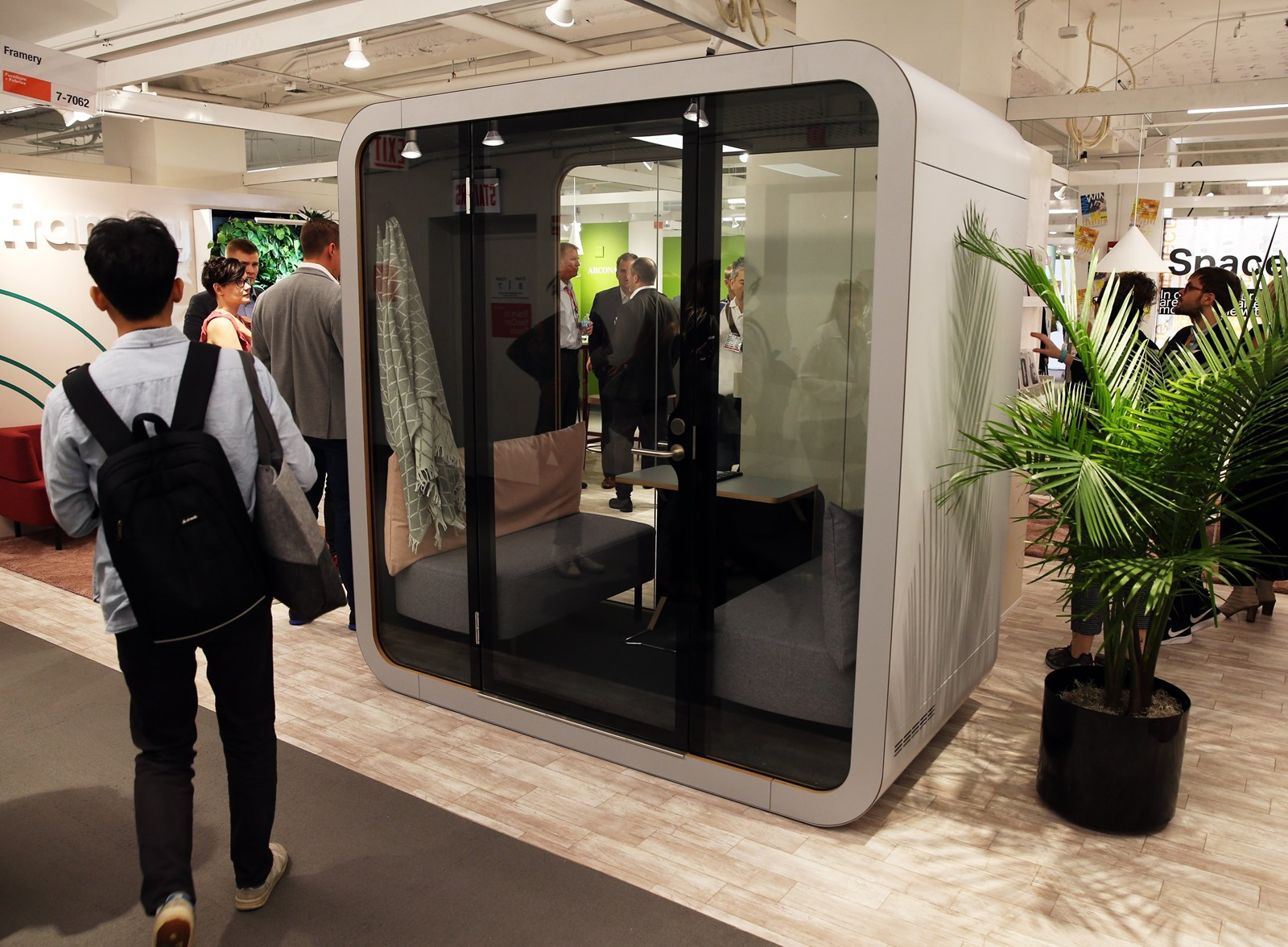 office sleeping pod. FRAMERY, An 8-year-old Finnish Company, Introduced Its NapQ, Office  Sleeping Pod, At A Trade Show In Chicago Last Month. (Photographs ByTerrence Antonio Pod
