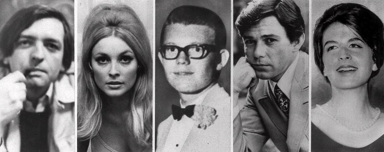 The victims of the Manson family's rampage in Benedict Canyon on August 9, 1969: Voytek Frykowski, left, Sharon Tate, Steven Parent, Jay Sebring and Abigail Folger. The next night, Leno and Rosemary LaBianca were slain in their Los Feliz home. — Photographs: Associated Press.
