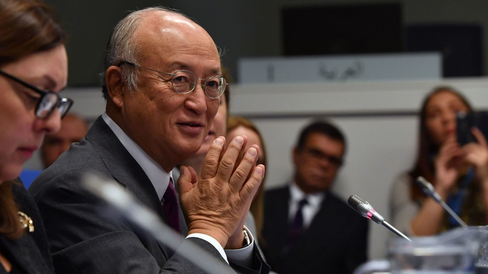 Yukiya Amano has led the IAEA since 2009. He says worries over weapons distract attention from constructive applications of nuclear energy. — Photograph: International Atomic Energy Agency.