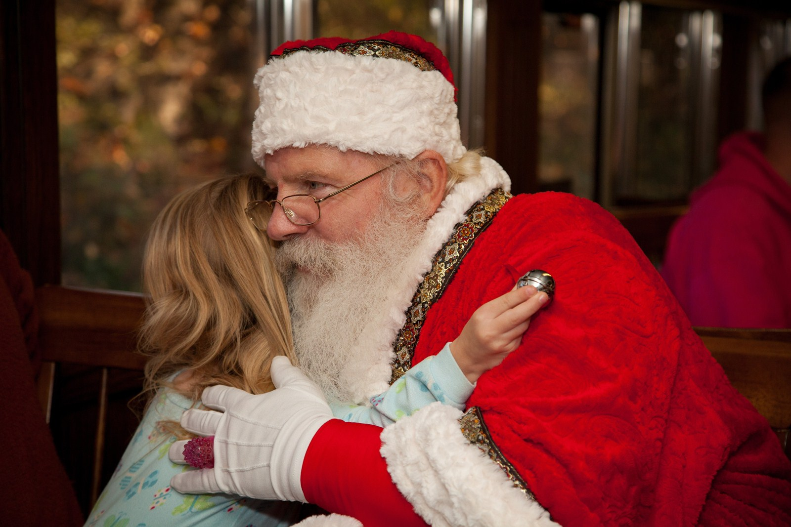 the santa cruz monterey bay railway in california is one of several rail companies offering a train to christmas town the return trip features photo ops